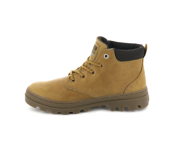 Palladium Pallabosse Lo Cuff W/P Ankle Boot - Amber