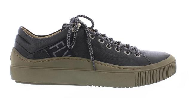 Fly London Some black leather trainer
