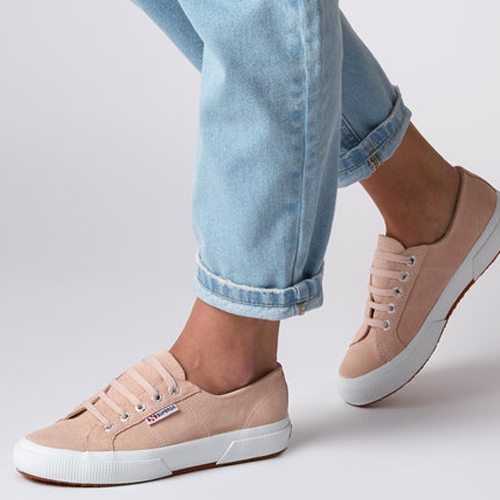 Superga 2750 Suede Trainer - Pink