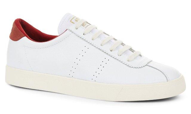 Superga 2843 Sport Trainer - White/Dark Red