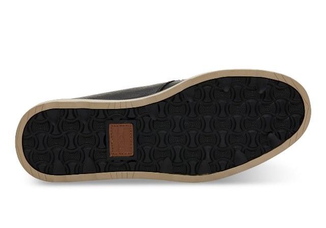 Toms Men's Chukka Full Grain Black Leather Boot