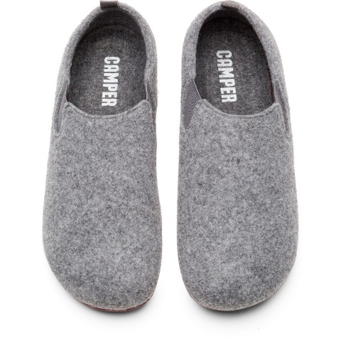 Camper Wabi Closed Back Slipper - Grey Felt