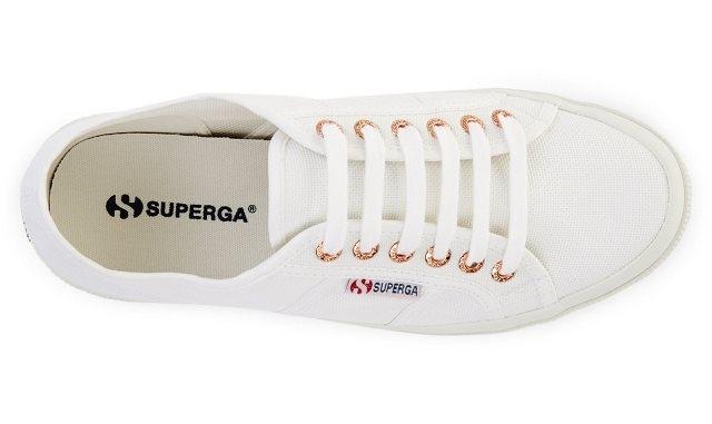 Superga 2750 Cotu Classic - White/Rose Gold