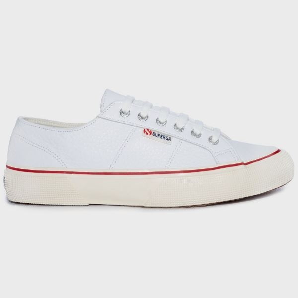 Superga 2490 Bold Leather - white/red
